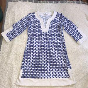 Jude Connolly Dress cobalt blue chain link XS